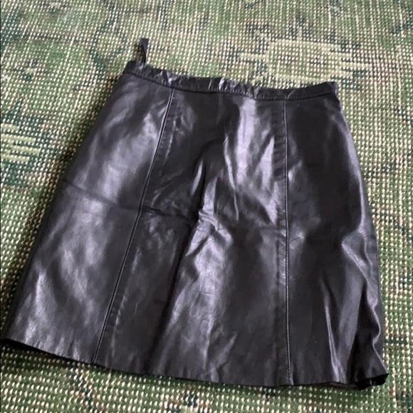 Vintage Dresses & Skirts - Vintage leather high rise skirt